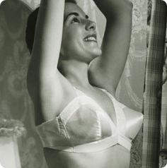 """Bullet bras made their first appearance around the 1940's. Because of the shape of bullet bras sweaters clung tightly to it and created what was known as the """"Sweater Girl"""" look. Many women ironed their bra to make sure it had a perfect form and even at times added extra stuffing. The fashion of the bullet bra declined in the 1960's due to the desire of women to have a more natural look. #secretsinlace"""