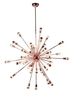 Sputnik Rose Gold Chandelier | Modern Furniture • Brickell Collection
