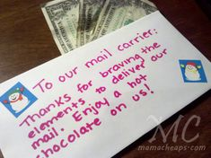 Pay it forward. You might want to suggest a lemonade for our Florida mail carriers :)