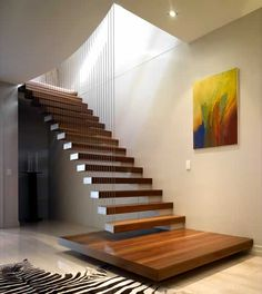 Really cool cantilevered staircase