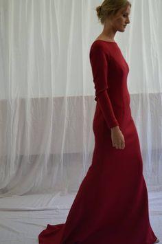 Vestido largo rojo. Invitada de boda.