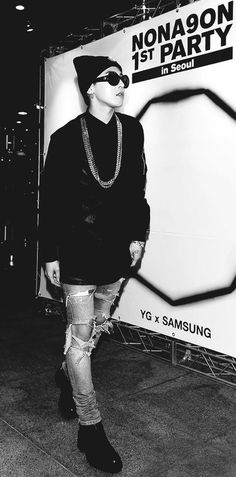 """G-Dragon at """"NONA9ON"""" 1st Party in Seoul"""