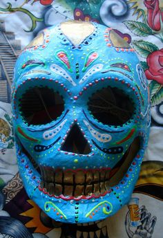 Day of the Dead mask on Etsy