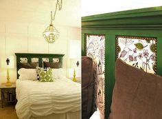 Schlafzimmer Inspiration Für Schlafzimmer Gemütlich Einrichten In Vintage  Style Mit Diy Kopfteil Bett Aus Holz_gelbe Und Graue Farben Im Schlafzimmu2026