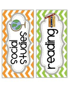 Classroom Subject Labels_Chevron