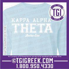 TGI Greek - Kappa Alpha Theta - Sorority Pr - Greek T-shirts - Comfort Colors  #tgigreek #kappaalphatheta #comfortcolors