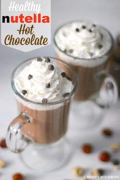 4-ingredient Nutella Hot Chocolate -- it's rich, smooth, comforting, and... healthy? OH YES! [sugar free, low carb, dairy free, vegan]