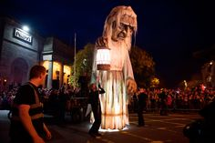 Macnas celebrated their 30th Anniversary with Halloween Parades in Galway and Dublin this Bank Holiday Weekend Festival. Photo: Andrew Downes