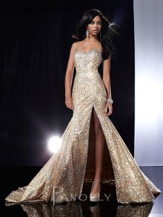 Panoply 14597 - Black One Shoulder Sequin Jersey Prom Dresses ...