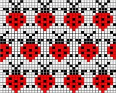 Mittens with jacquard – 'Winter Rainbow' Fair Isle Knitting Patterns, Bead Loom Patterns, Knitting Charts, Knitting Stitches, Beading Patterns, Hat Patterns, Loom Knitting, Free Knitting, Loom Bracelets