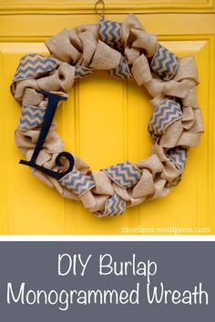 DIY burlap wreath. This is what I will be doing, only with lace instead of the other burlap material.