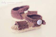 Crochet baby sandals by miri