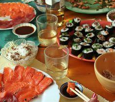 Hoje para jantar ...: Sashimi de salmão e atum
