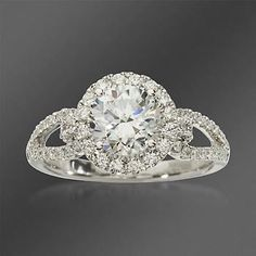 Simon G. .49 ct. t.w. Diamond Engagement Ring Setting In 18kt White Gold