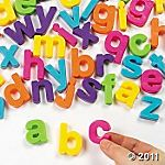 Magnetic letters for party favors for a Super Why party?