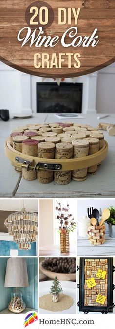 20 Funny DIY Wine Cork Ideas for Unique and Affordable Decor - Einrichtungs Ideen - unique crafts Wine Cork Projects, Wine Cork Crafts, Craft Projects, Craft Ideas, Crafts For Teens, Crafts To Sell, Home Crafts, Diy And Crafts, Simple Crafts