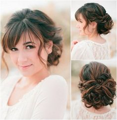 Bridal hair style with fringe up - Google Search