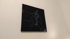 Printed Strava Heatmaps
