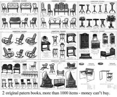 Thonet chairs & styles