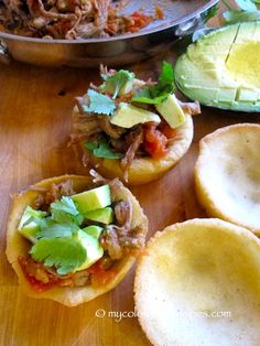 Arepa Bites with Shredded Beef and Avocado