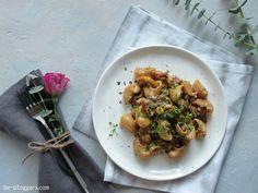 Паста с овощами и лисичками в винно-сливочном соусе, рецепт, пошаговые фото