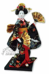 Japanese Geisha Dolls w Fans