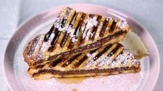 Mario Batali's Hazelnut Chocolate Stuffed French Toast