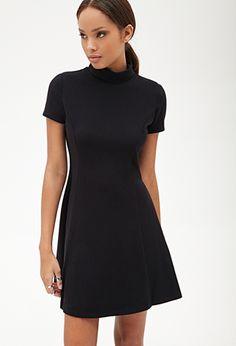 A-Line Turtleneck Dress | FOREVER 21 - 2000058740