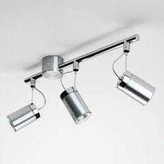 Montana Triple spotlight by Astro Lighting is available in a brushed aluminium finish. With an the Montana is suitable for interiors and bathrooms (zone Modern Lighting, Track Lighting, Kitchen Spotlights, Wall Lights, Ceiling Lights, Spot Lights, Front Rooms, Light Fittings, Appliques