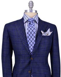 Stanley Korshak | Kiton | Blue with Dark Blue Check Sportcoat