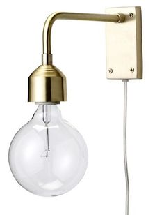 Gull Vegglampe - Bloomingville. gold wall sconce