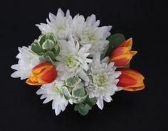 mums, tulips, & succulents