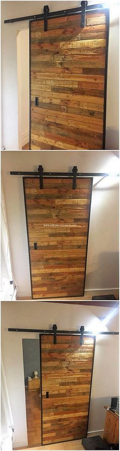 This is quite an inventive creation of the wood pallet that is introducing you with the sliding door effect of brilliance. Yes, this creation is all about the superb wood pallet sliding door effect of functional effect into it. Very few houses incorporate this type of design but it complete look stylish.