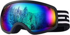 LOEO Kids Ski Goggles, Snowboard Ski Goggles for Kids, Youth, Teens, Boys and Girls Toddler Age 5-14, Wind Resistance, Anti-Glare Lenses, 100% UV Protection Best Ski Goggles, Snowboard Goggles, Oakley Sunglasses, Mirrored Sunglasses, Kids Skis, Best Skis, Toddler Age, Snow Skiing, Boys