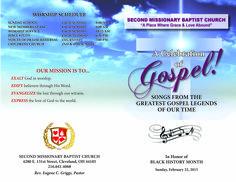 Gospel fest program design