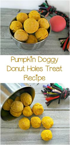 Skip the sugar-laden drive through freebie and whip up a batch of these pumpkin doggy donut holes hypoallergenic dog treats for your pooch!