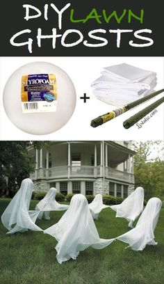 14. DIY Lawn Ghosts