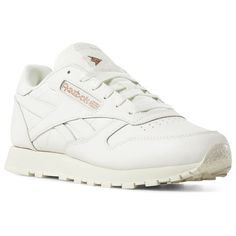 ad5dd6837c34 Reebok Shoes Women s Classic Leather in Cv-chalk Rose Gold Paper White Size  11 - Retro Running Shoes