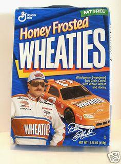 Dale Earnhardt Sr. 1995 NASCAR Winston Cup Honey Frosted Wheaties 14.75 EMPTY BOX