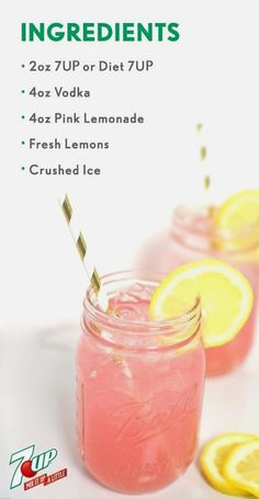 Party Drinks Alcohol, Alcohol Drink Recipes, Liquor Drinks, Fun Drinks, Healthy Drinks, Easy Vodka Drinks, Alcoholic Lemonade Drinks, Beverages, Easy Summer Cocktails