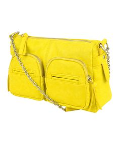 Neon Yellow Chain Strap Crossbody Purse from Forever 21. just got it today. love it.