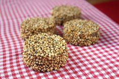 Puffed Quinoa Caramel Snacks