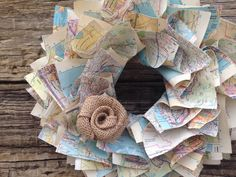 Map Wreath from The