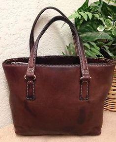 4fb9237f1d Fossil Vintage Brown Pebble Distressed Leather Tote Bag Shoulder Handbag  Small