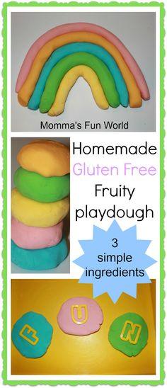 "Momma's Fun World: Homemade ""GLUTEN FREE"" play dough"
