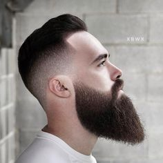 Men's Hairstyles + Haircuts For Men Long Beard Styles, Beard Styles For Men, Hair And Beard Styles, Short Hair Styles, Medium Beard Styles, Faded Beard Styles, Bun Styles, Short Hair Cuts, Mens Hairstyles With Beard