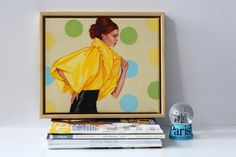 Original Oil Painting by Rose Miller inspired by fashion, vogue design, pop, figurative, figures and portrait art. Mrs Watson Likes to Vogue...