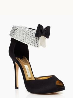 Kate Spade BLACK TIE heels   How cute are these?! Noe if only I had somewhere to wear them....