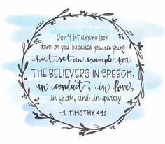 Bible Verse: 1 Timothy 4:12 - Google Search