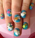 3D Pony nail art. You do not have to have fake or long nails to go 3D!